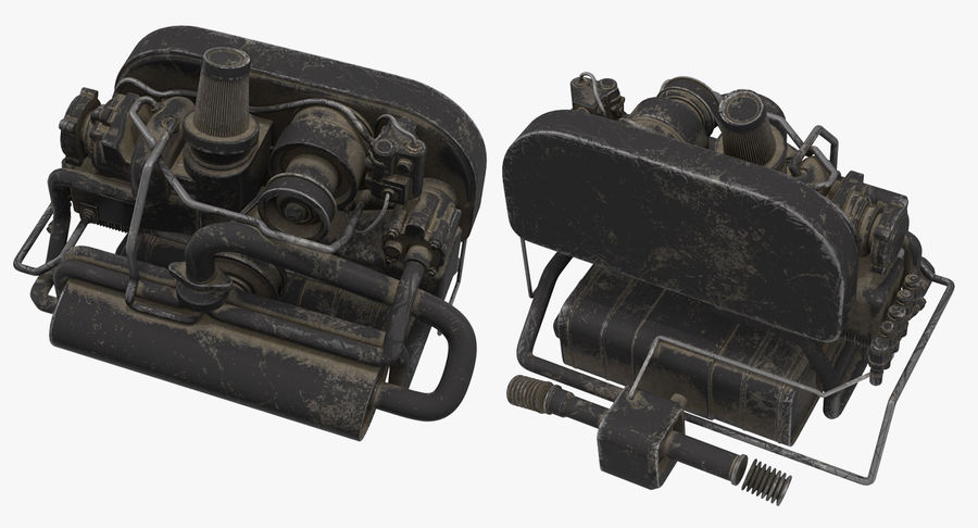 Buggy Engine royalty-free 3d model - Preview no. 7