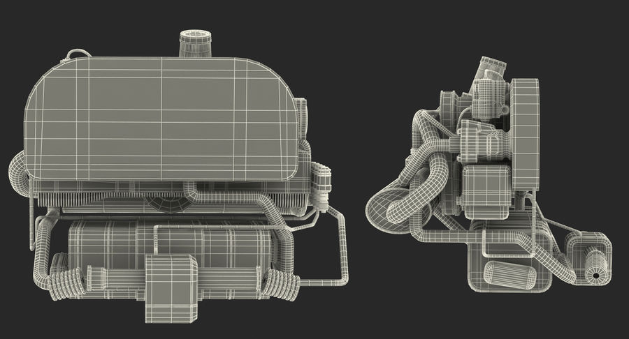Buggy Engine royalty-free 3d model - Preview no. 15