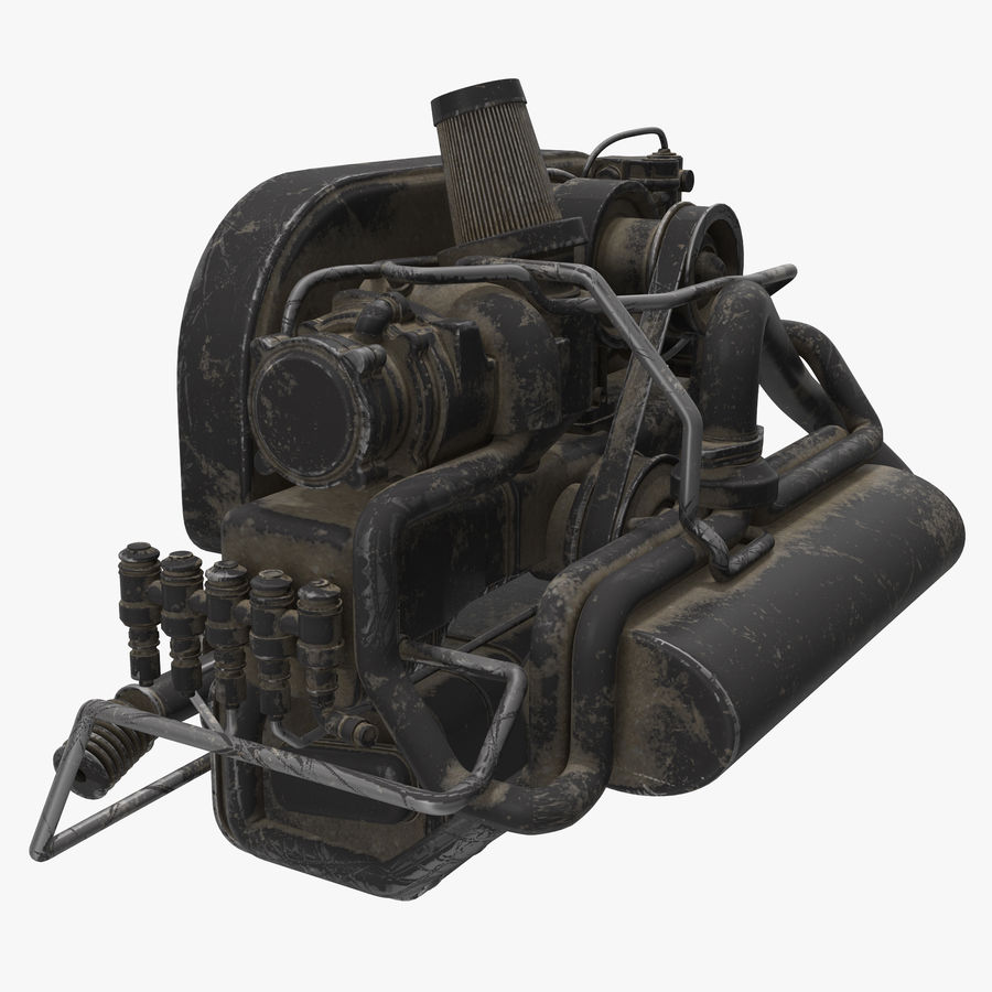 Buggy Engine royalty-free 3d model - Preview no. 2