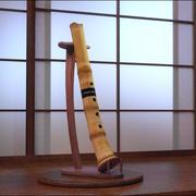 Flauta Shakuhachi modelo 3d
