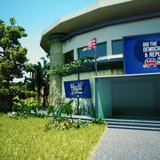 Regierungsgebäude Szene 3d model