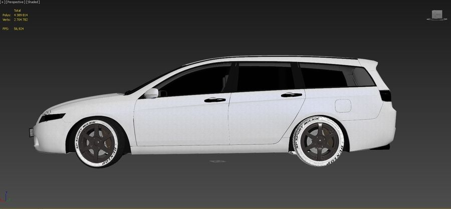 Honda Accord Wagon 2005 royalty-free 3d model - Preview no. 15