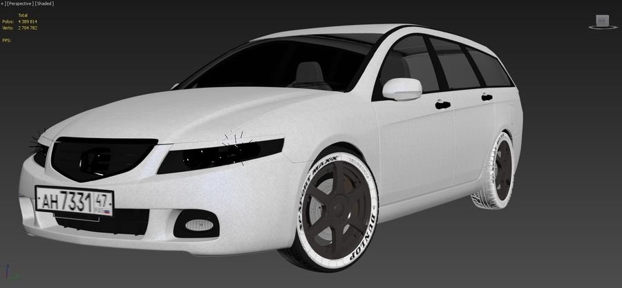 Honda Accord Wagon 2005 royalty-free 3d model - Preview no. 13