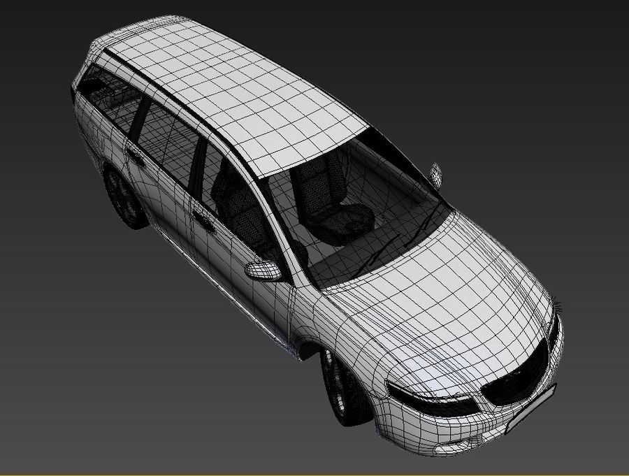 Honda Accord Wagon 2005 royalty-free 3d model - Preview no. 22