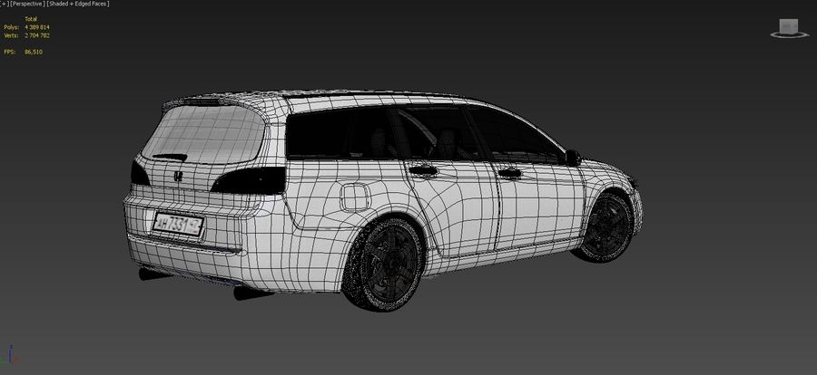 Honda Accord Wagon 2005 royalty-free 3d model - Preview no. 18