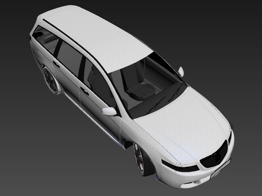 Honda Accord Wagon 2005 royalty-free 3d model - Preview no. 23