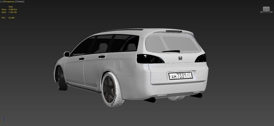 Honda Accord Wagon 2005 royalty-free 3d model - Preview no. 17