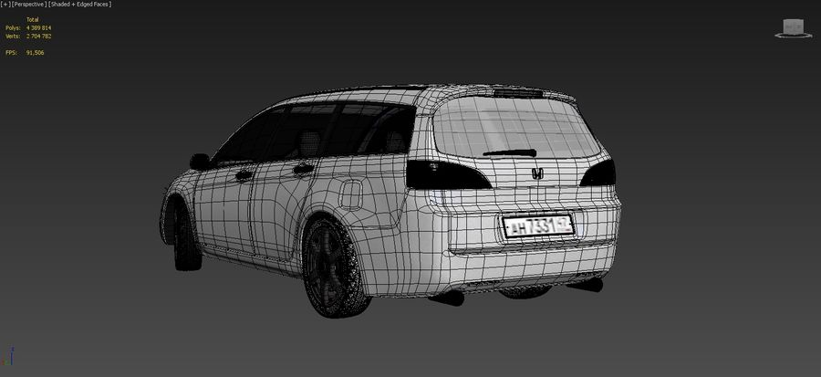 Honda Accord Wagon 2005 royalty-free 3d model - Preview no. 16
