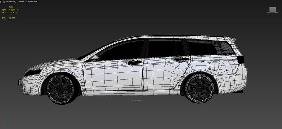 Honda Accord Wagon 2005 royalty-free 3d model - Preview no. 14