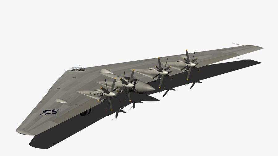XB35 Flying Wing royalty-free 3d model - Preview no. 12