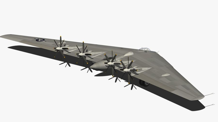 XB35 Flying Wing royalty-free 3d model - Preview no. 13