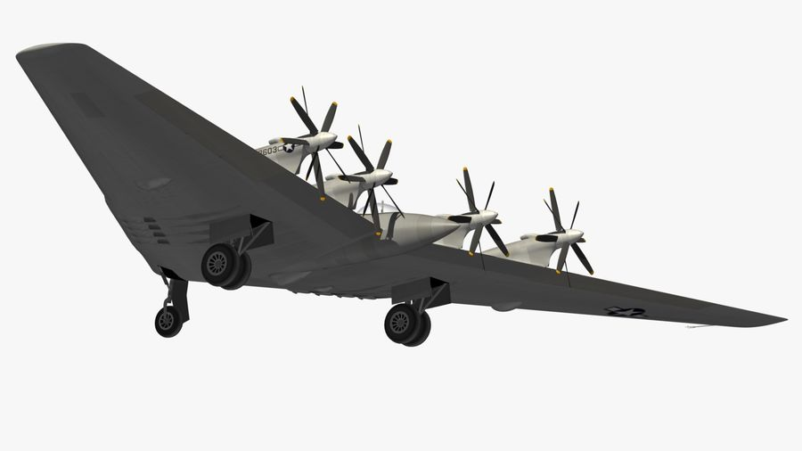 XB35 Flying Wing royalty-free 3d model - Preview no. 17