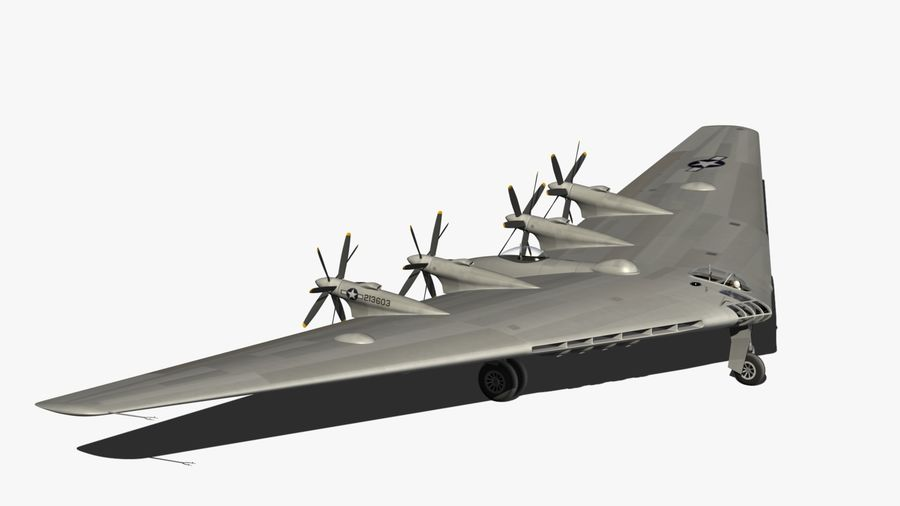 XB35 Flying Wing royalty-free 3d model - Preview no. 14