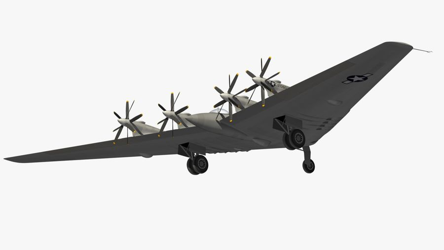XB35 Flying Wing royalty-free 3d model - Preview no. 18