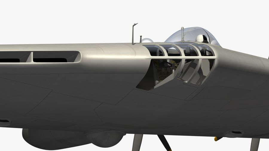 XB35 Flying Wing royalty-free 3d model - Preview no. 2