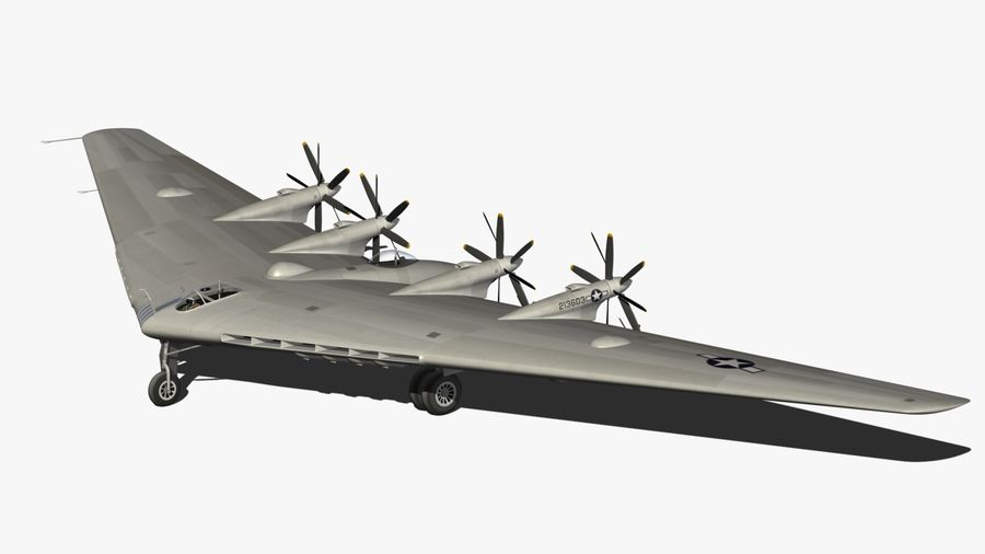XB35 Flying Wing royalty-free 3d model - Preview no. 11