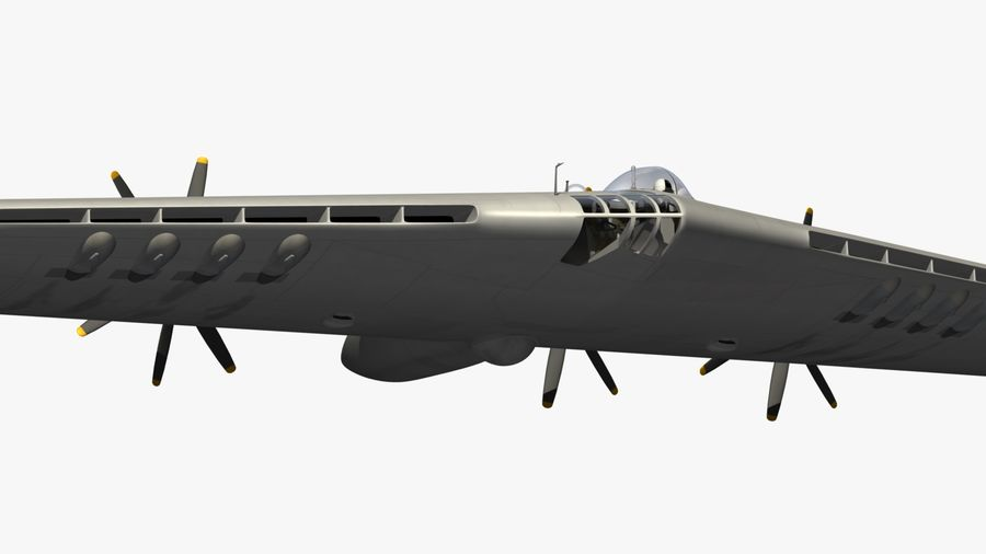 XB35 Flying Wing royalty-free 3d model - Preview no. 4