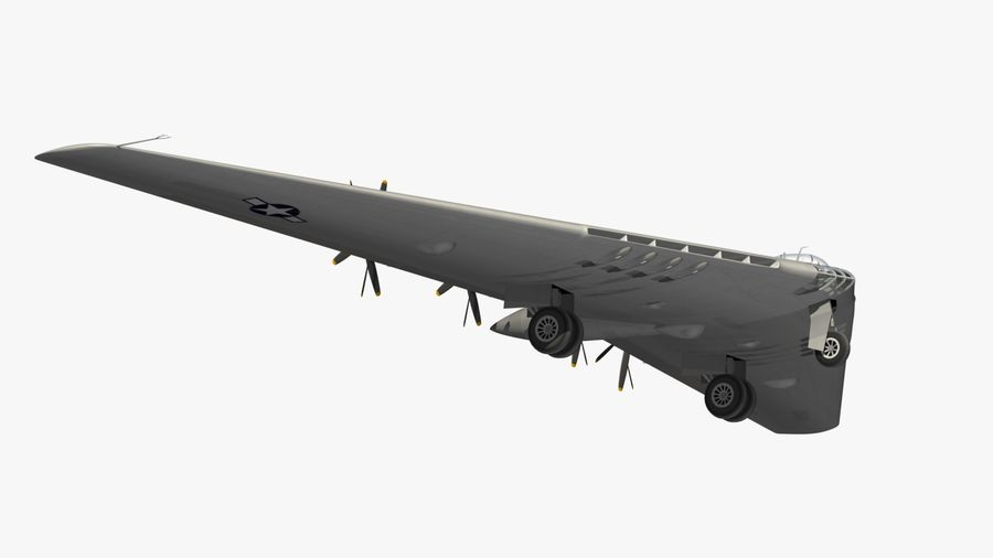 XB35 Flying Wing royalty-free 3d model - Preview no. 15