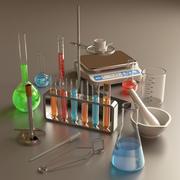 Zestaw chemiczny 3d model