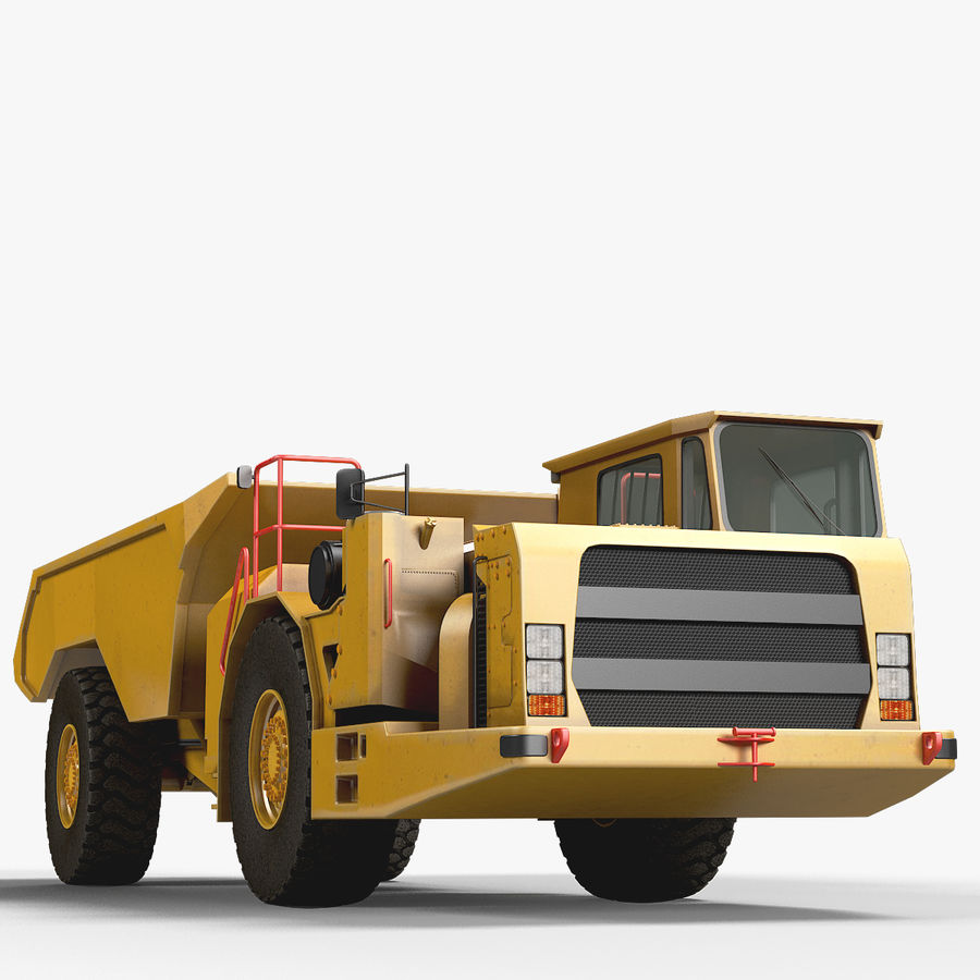 Mining Underground Truck royalty-free 3d model - Preview no. 10