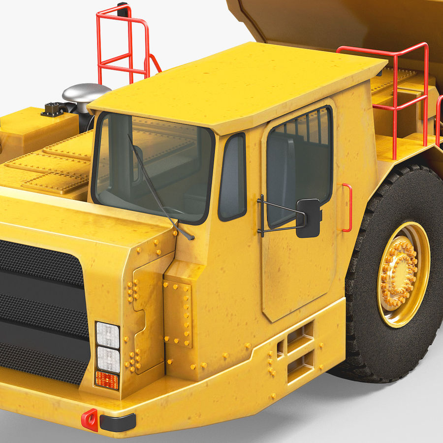 Bergbau Untertage-LKW royalty-free 3d model - Preview no. 6