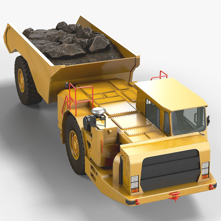 Bergbau Untertage-LKW royalty-free 3d model - Preview no. 11
