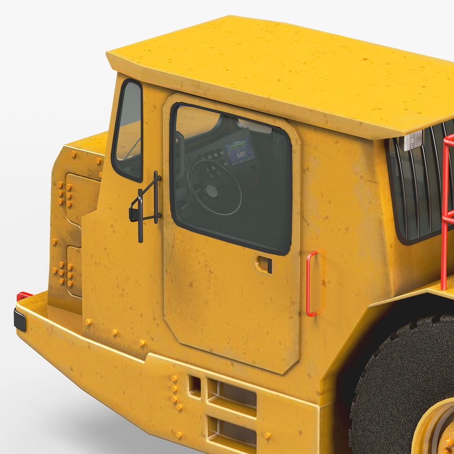 Bergbau Untertage-LKW royalty-free 3d model - Preview no. 7