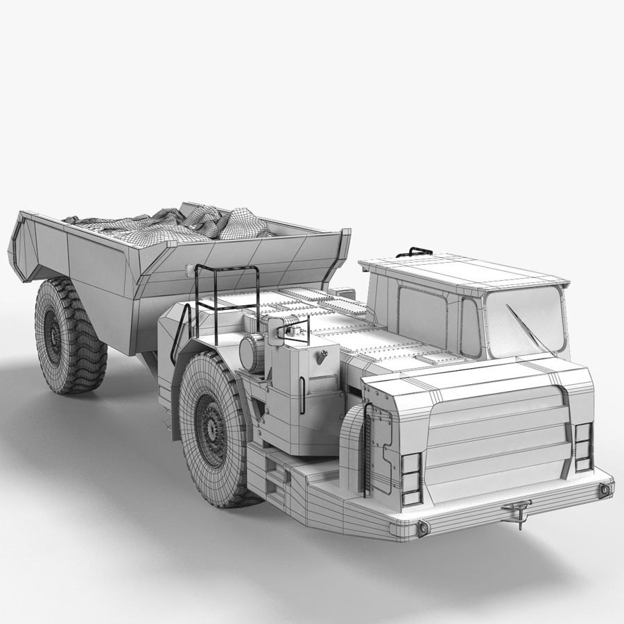 Mining Underground Truck royalty-free 3d model - Preview no. 8