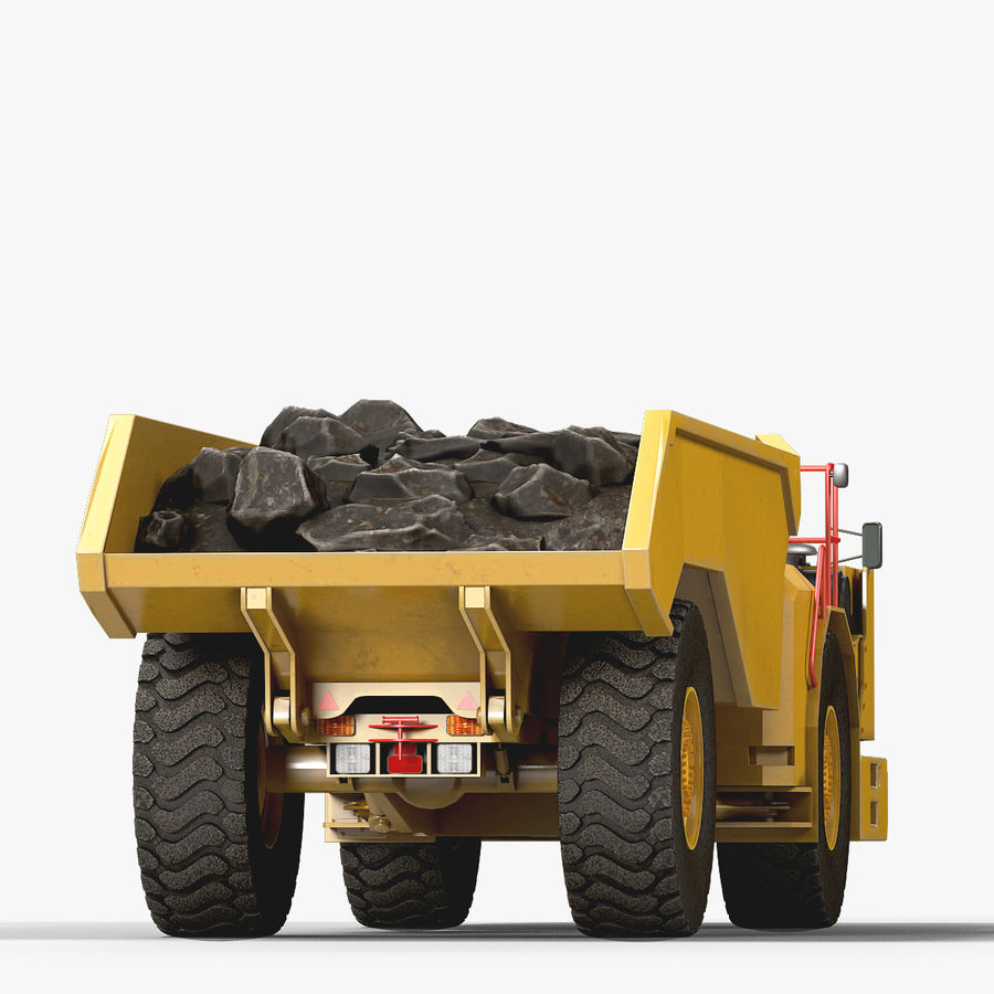 Mining Underground Truck royalty-free 3d model - Preview no. 4