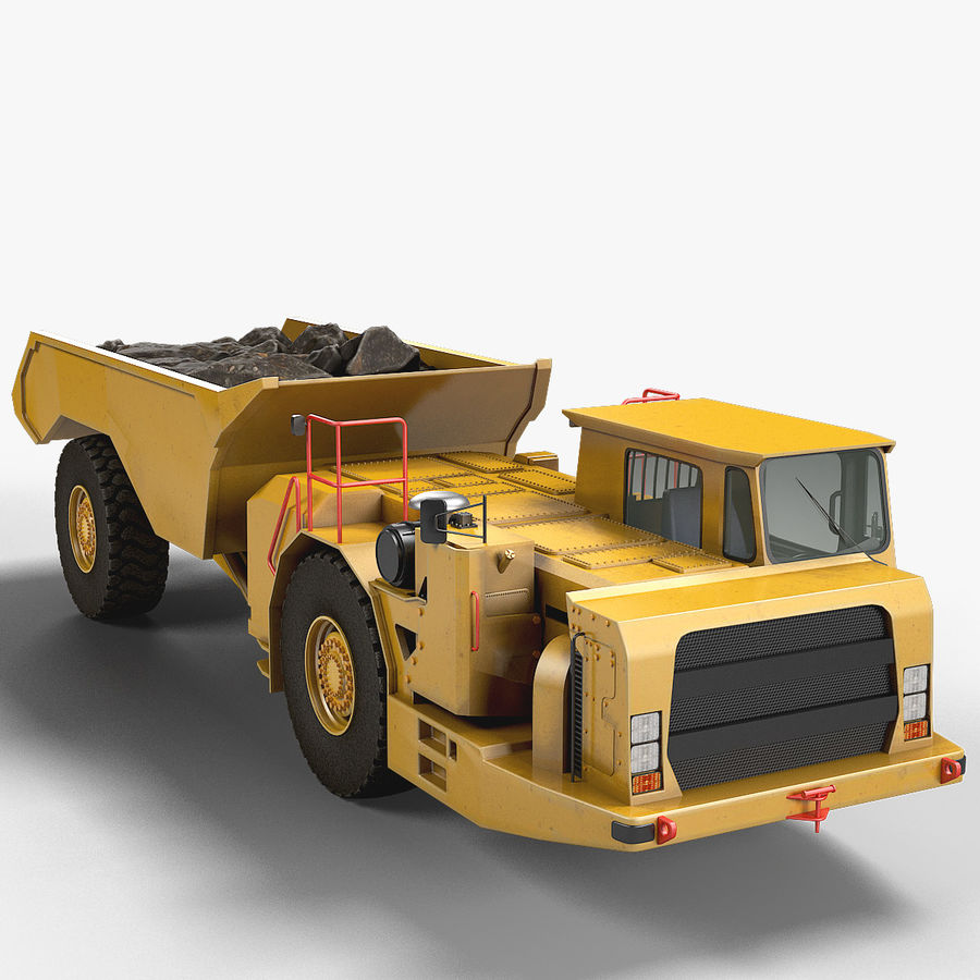 Bergbau Untertage-LKW royalty-free 3d model - Preview no. 1