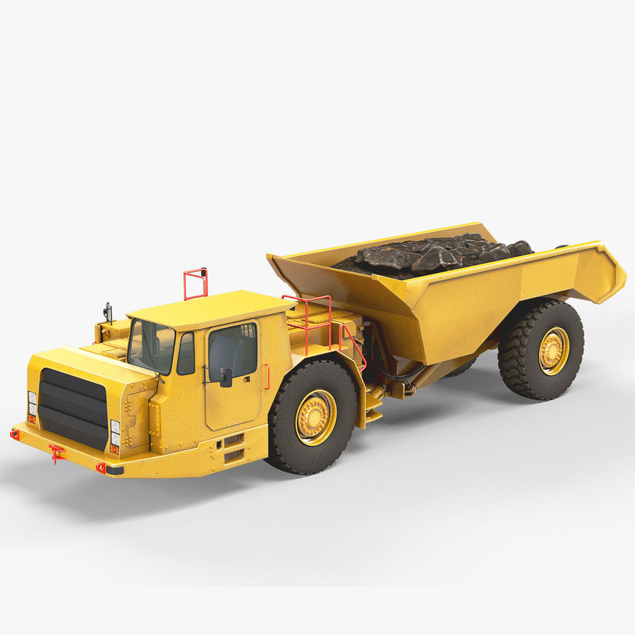 Bergbau Untertage-LKW royalty-free 3d model - Preview no. 2