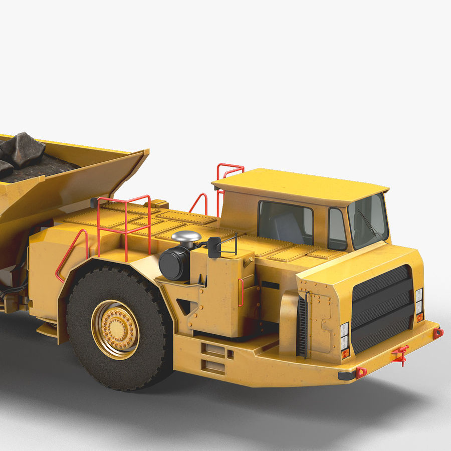 Bergbau Untertage-LKW royalty-free 3d model - Preview no. 5