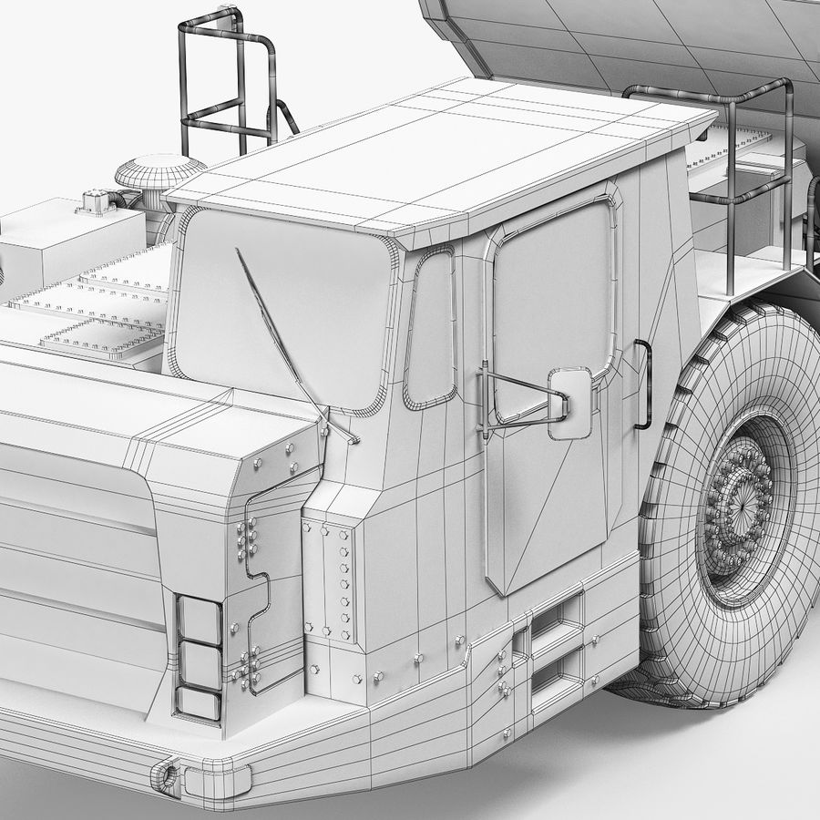 Mining Underground Truck royalty-free 3d model - Preview no. 9