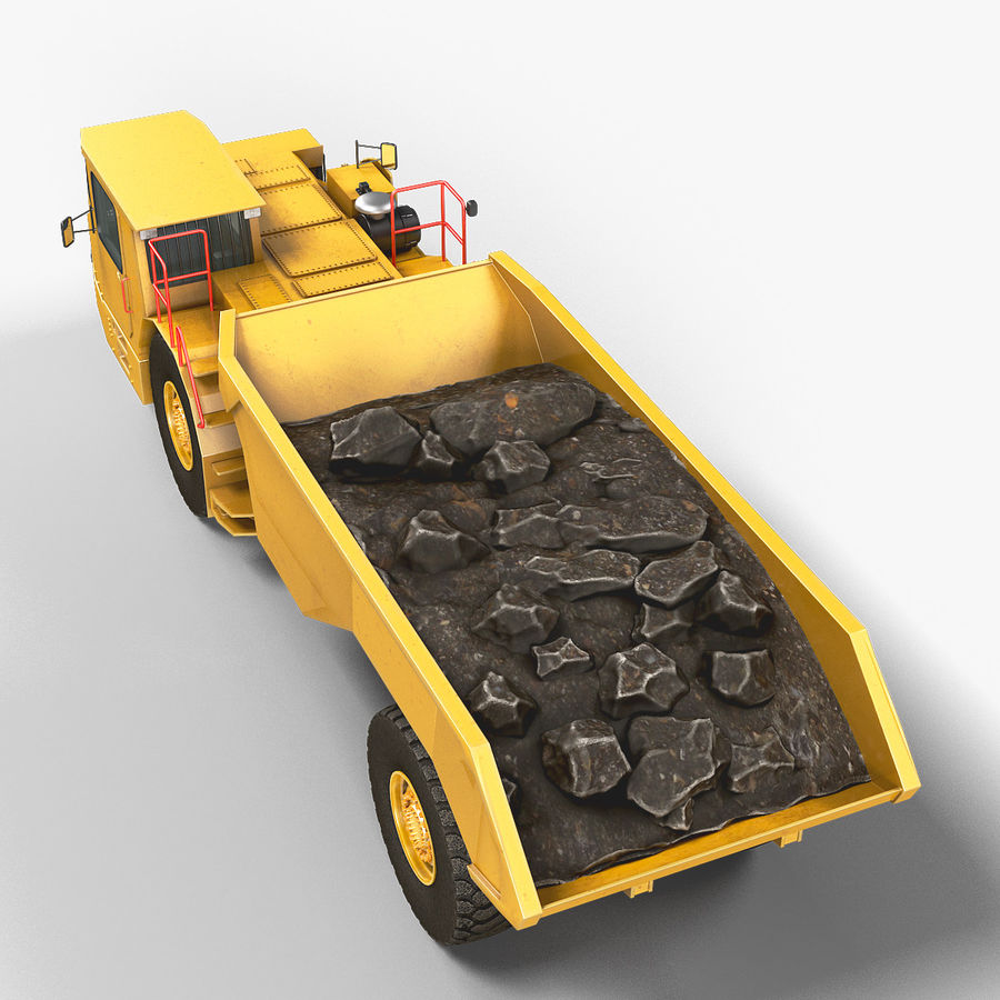 Mining Underground Truck royalty-free 3d model - Preview no. 3