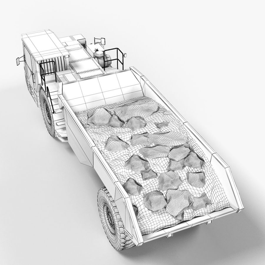Bergbau Untertage-LKW royalty-free 3d model - Preview no. 14