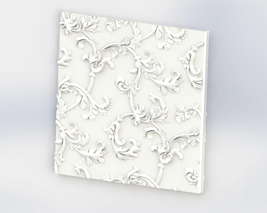 Painel de parede 3D royalty-free 3d model - Preview no. 4