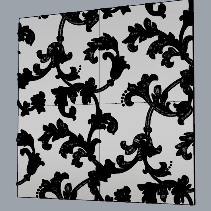 Painel de parede 3D royalty-free 3d model - Preview no. 5