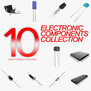 Electronic Components Collection 3d model