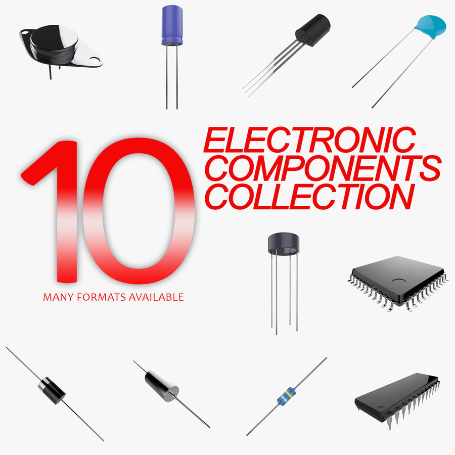 Collezione di componenti elettronici royalty-free 3d model - Preview no. 1