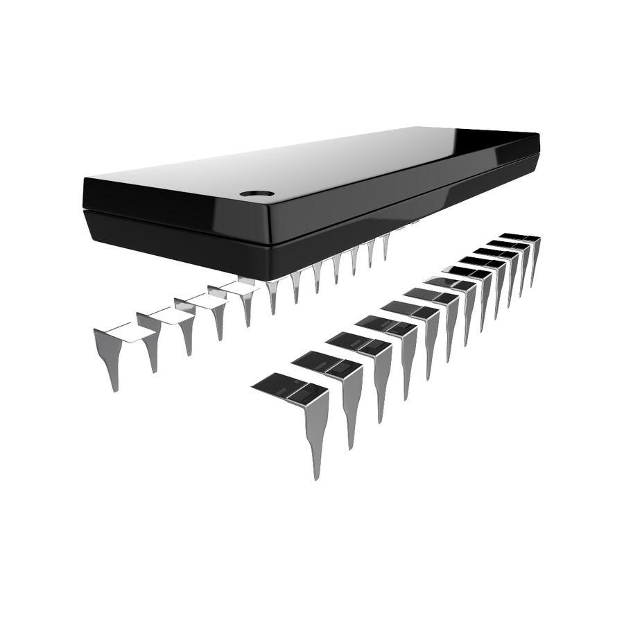 Collezione di componenti elettronici royalty-free 3d model - Preview no. 16