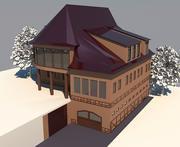 패밀리 하우스 코티지 3d model