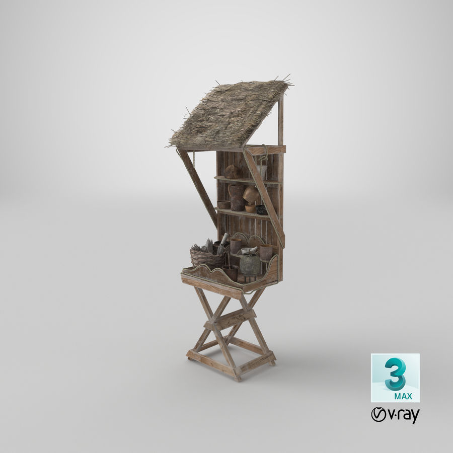 Market Stall 01 royalty-free 3d model - Preview no. 31