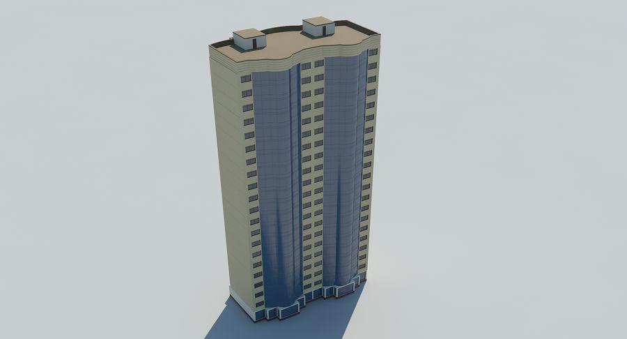 City  Building royalty-free 3d model - Preview no. 7