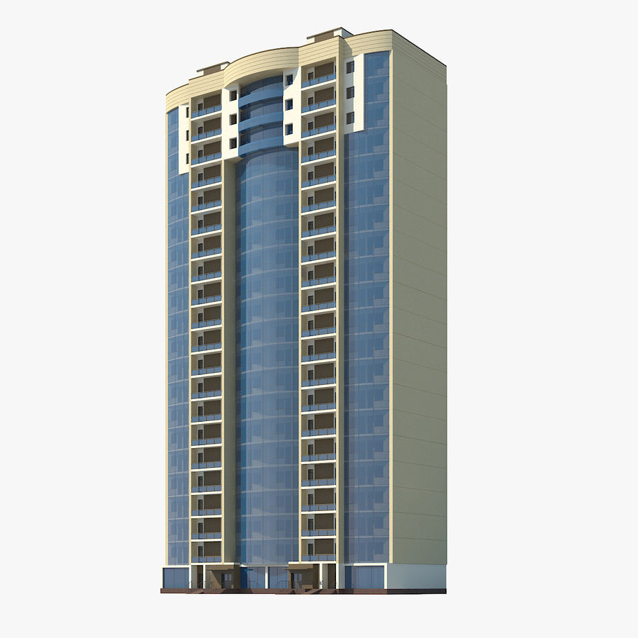 City  Building royalty-free 3d model - Preview no. 1