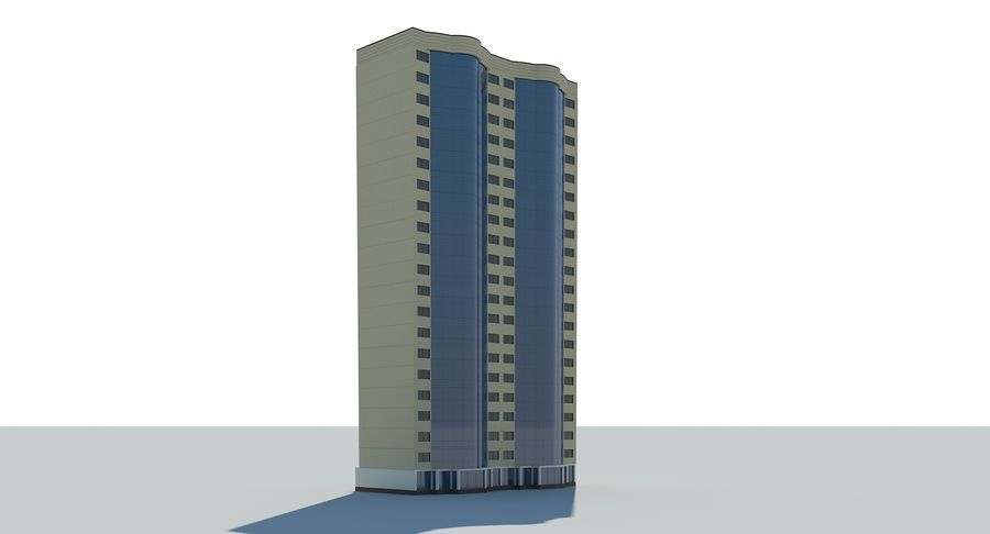 City  Building royalty-free 3d model - Preview no. 6