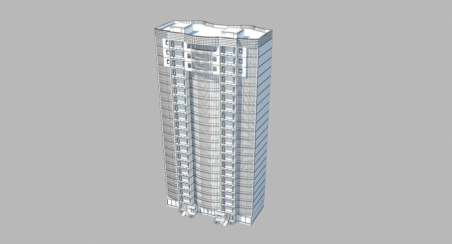 City  Building royalty-free 3d model - Preview no. 10