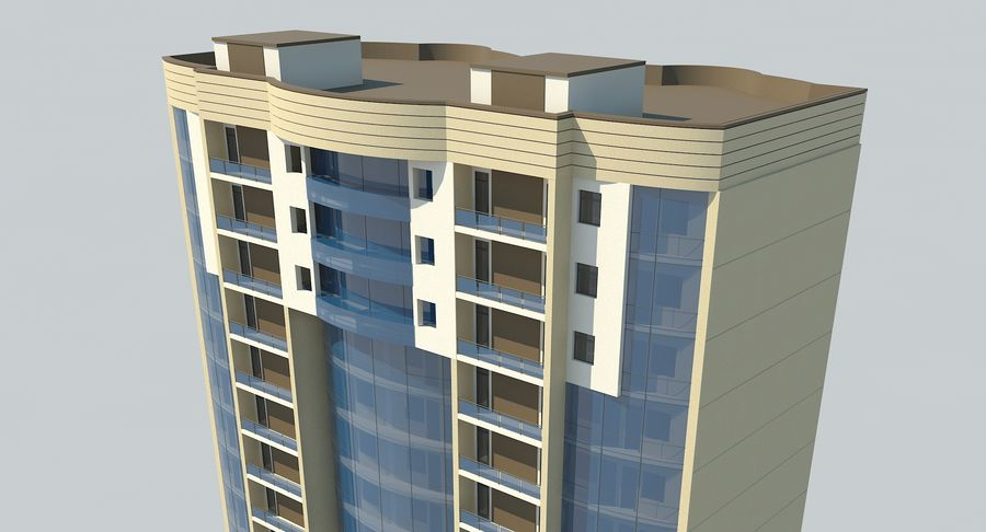 City  Building royalty-free 3d model - Preview no. 9