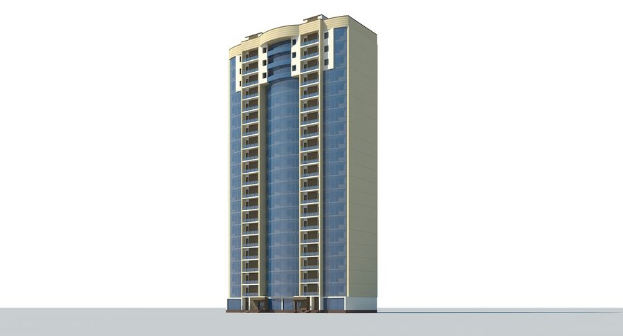 City  Building royalty-free 3d model - Preview no. 3