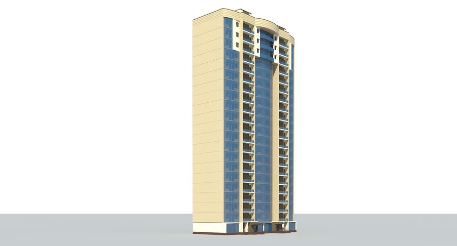 City  Building royalty-free 3d model - Preview no. 4
