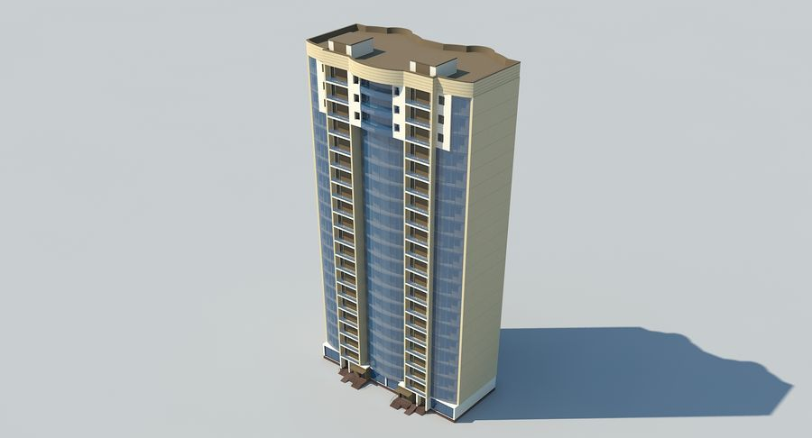 City  Building royalty-free 3d model - Preview no. 8